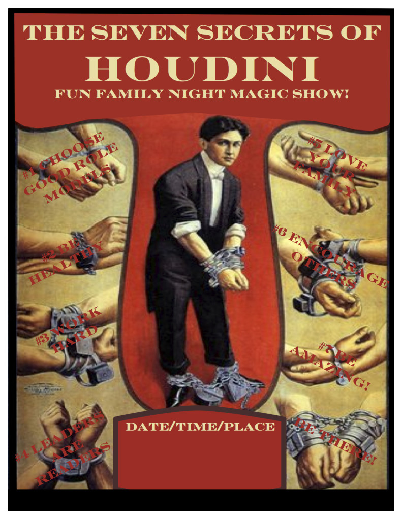 Houdini family night poster